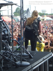 Black Label Society from behind the stage.