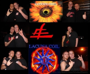Me with the members of Lacuna Coil in 2003
